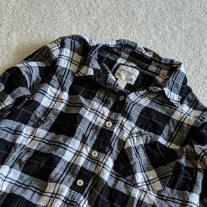 ⭐4 for $25 Crop Plaid Shirt
